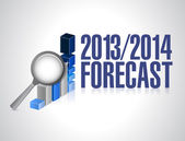 2013 2014 business forecast concept illustration — Photo