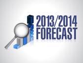 Ilustração do conceito de previsão de negócio de 2013-2014 — Foto Stock