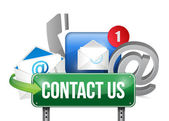 Contact us sign and concept illustration design — Stock Photo