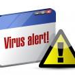 Browser internet virus alert. illustration design — Stock Photo