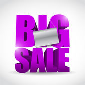 Big sale sign and banner illustration design — Stock Photo
