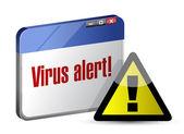 Browser internet virus alert. illustration design — Stock Photo