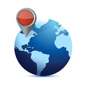 Globe and locator. illustration design — Stock Photo