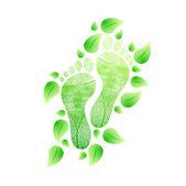 Conceito de eco amigável pés. ilustração natural — Fotografia Stock
