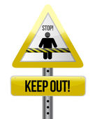 Keep out road sign illustration design — Stock Photo