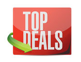 Top deals sticker illustration design — Stock Photo