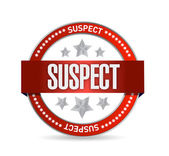 Suspect seal illustration design — Stock Photo