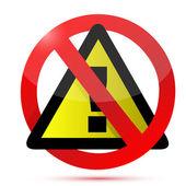 Non disegno illustrazione segno di avvertimento — Foto Stock