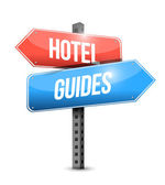 Hotel and guides sign illustration design — Stock Photo