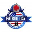Stock Photo: Patriot day seal. fire fighters illustration