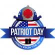 Patriot day seal. fire fighters illustration — Stock Photo