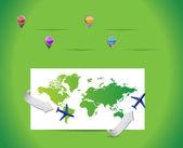 Cestovní mapa a ukazatele. ilustrace design — Stock fotografie