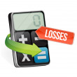 Calculator losses illustration design — Photo