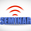 Seminar wifi illustration design — Stock Photo