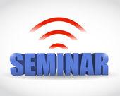 Seminar wifi illustration design — Stockfoto