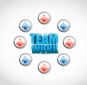 Team work. social network illustration design — Stock Photo