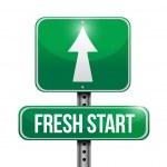 Fresh start road sign illustration design — Stock Photo #30418675