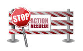 Action needed barrier illustration design — Stock Photo