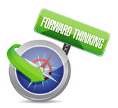 Forward thinking compass guide illustration — Stock Photo