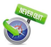 Nooit stoppen kompas gids afbeelding ontwerp — Stockfoto