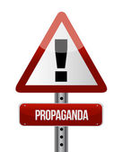 Propaganda road sign illustration design — Stock Photo