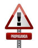 Propaganda road sign illustration design — Stock Photo