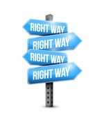 Right way road sign illustration design — Stock Photo