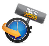 Time to succeed illustration design — Stock Photo