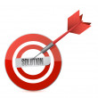 Target solutions illustration design — Stock Photo