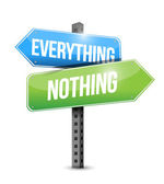 Everything nothing road sign illustration — Stock Photo