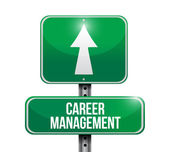 Career management road sign illustration — Stock Photo