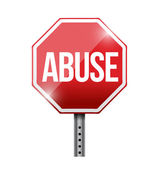 Stop abuse road sign illustration design — Stock Photo