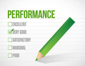 Very good performance review illustration — Stock Photo