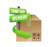 Same day delivery illustration design — Stock Photo