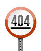 Fehler 404-zeichen abbildung strassenplanung — Stockfoto