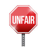 Unfair red stop sign illustration design — Stock Photo