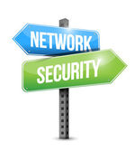Network security road sign illustration design — Stock Photo