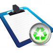 Stock Photo: Clipboard and recycle illustration design