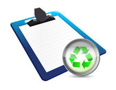 Clipboard and recycle illustration design — Stock Photo