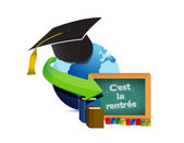 Back to school education in french — Stock Photo