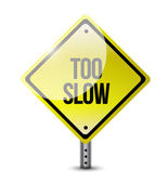 слишком медленно дороги знак иллюстрации дизайн — Стоковое фото