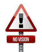 No vision road sign illustration design — Stock Photo