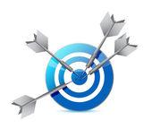 Target and darts illustration design — Stock Photo