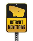 インターネット監視道路標識イラスト — ストック写真