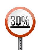 30 процент дорожных знака иллюстрации дизайн — Стоковое фото