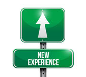 New experience road sign illustration design — Stock Photo