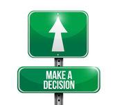 Make a decision road sign illustration design — Stock Photo