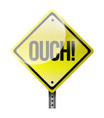 Ouch road sign illustration design — Stock Photo