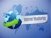 Internet monitor concept and globe. — Stock Photo