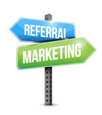 Referral Marketing road sign illustration — Stock Photo
